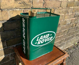 Land Rover Advertising Vintage Memorabilia Petrol Can Hand Painted Brass Top