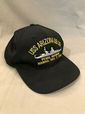 NWOT Hat USS Arizona BB39 Pearl Harbor Baseball Cap Style Snap back