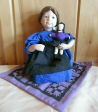"""Edwin M. Knowles Porcelain Doll """"Rebeccah"""" Amish Blessings Collection 1990"""