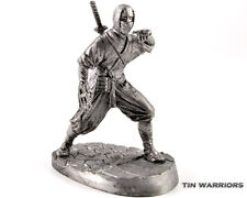 Japan Ninja. 15th Cent Tin toy soldier. 54mm miniature figurine. metal sculpture