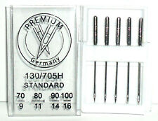 DOMESTIC SEWING MACHINE NEEDLES STANDARD POINT 130R / 705H MIX SIZES, FREE P&P