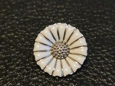 Denmark Georg Jensen 925 Sterling Silver Enamelled Daisy Pendant