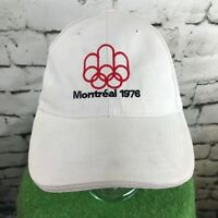 Montreal 1976 Mens One Sz Hat White Adjustable Baseball Cap Flaw