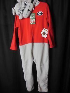 Georgia Bulldogs Children's 'SEE MY HOOD' Zipper Pajamas