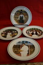 SET OF 4 L'ETALAGE COLLECTION THE SHOPKEEPERS SIGNED SNACK SALAD PLATES