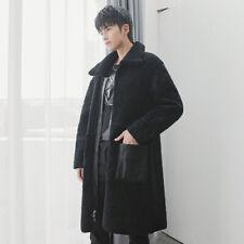 Men's Real Fur Coat  Mid-length Fur Coat Leather Fur Double-sided Wear