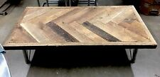 Reclaimed Wood Coffee Table Rustic Metal Furniture Real Wooden HandCrafted