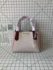 Michael Kors Kimberly Signature PVC Leather Small Satchel Crossbody Bag