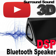 Bluetooth speaker box brushed aluminio 3d DSP surround + subwoofer super bass mp3