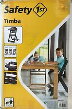 Safety 1st Hochstuhl Timba, mitwachsend aus Holz, abnehmbares Tischchen, grau