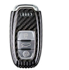 REAL DRY CARBON FIBER REMOTE KEYLESS KEY COVER CASE HOLDER FOR AUDI A1 A3 A4 A5