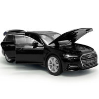 1:32 Audi A6 Model Car Diecast Gift Toy Vehicle Kids Black Collection Sound