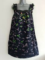 FRENCH CONNECTION Women's Navy Patterned Sequined Sleeveless Tunic Top. UK 14.