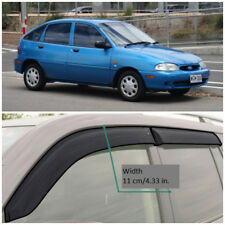 Wide Window Visors Side Sun Guard Vent Deflectors For Ford Festiva Hb 1994-2001