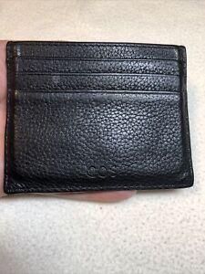 COS Gentlemans Black Leather Cardholder Id Wallet.