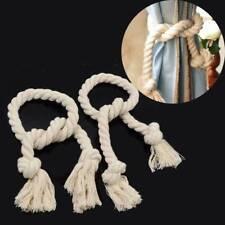 2Pcs Beige Window Curtain Drapery Tassel Rope Tie Back Holdback Fringe Decor TOP