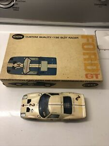 Rare Cox Custom Quality 1:32 Slot Car Racer Ford GT BOX And Body