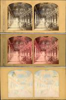 Stéréo, Paris, le Louvre, galerie d'Apollon vintage stéréo card tissue, car