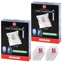 Genuine HOOVER H63 PUREHEPA Vacuum Cleaner DUST BAGS x 4PK BN
