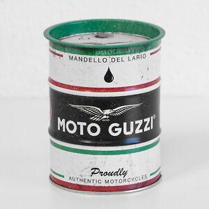 Small Retro Money Tin Moto Guzzi Motorcycles Coin Saving Change Piggy Bank Box