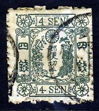 JAPAN 1875 4 Sen Green No Syllabic SG 68 VFU
