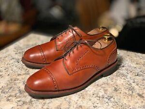 """ALLEN EDMONDS """"Benton"""" Men's Orthotic Chilli Leather Derby Shoes 9.5 D"""