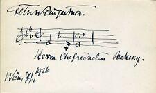 Felix WEINGARTNER (Conductor/Pianist): Autograph Musical Quotation