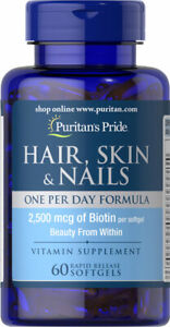 Puritan's Pride Hair, Skin & Nails One Per Day 60 Softgels - FATHER'S DAY SALE