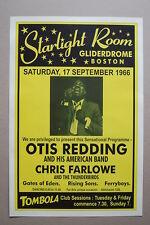 Otis Redding Concert Tour Poster 1966 Starlight Room Gliderdrome Boston