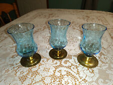 Vtg set of 3 Home Interior Blu