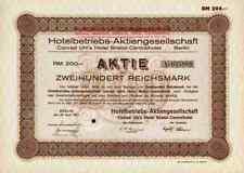 Hotelbetriebs AG 1927 Bristol Kaiserhof Bellevue Baltic Centralhotel Kempinski