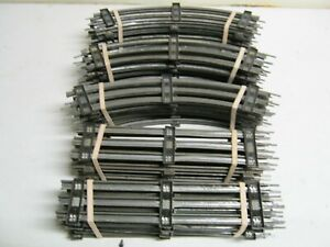 50 PIECES MARX 027 TRACK- 20 STRAIGHT, 30 CURVED!