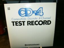 4-Channel Cd-4 Test Record 45 Ex 1972 Kenwood Japan Import Machine Stamp Numbers