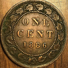 1886 CANADA LARGE CENT PENNY LARGE 1 CENT - Obverse 1 - Excellent example!