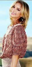 "NWOT ISABEL MARANT Runway ""Wake"" Smocked Silk Blouse $830 SZ 38 Mainline Top"
