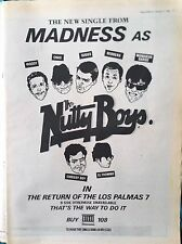 MADNESS - RETURN OF THE LOS PALMAS 7 SINGLE 1981 RECORD MIRROR FULL-PAGE ADVERT