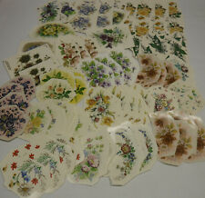 Lot of 140 vintage assorted Flower Waterslide Decals, Kiln Fired, Antique Shabby