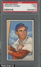 1952 Bowman SETBREAK #102 Peanuts Lowrey St. Louis Cardinals PSA 7 NM