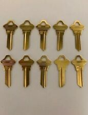 *Lot Of Ten Locksmith Sc1 Key Blanks Fits Schlage Solid Brass Made In Usa*