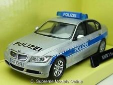 BMW 3 SERIES POLICE POLIZEI CAR 1/43 SCALE SILVER/BLUE COLOUR EXAMPLE T3412Z(=)