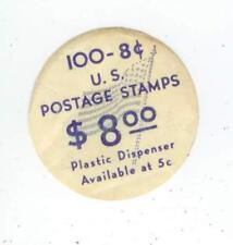 c1960s 100 8ct Us Postage Stamps round sticker