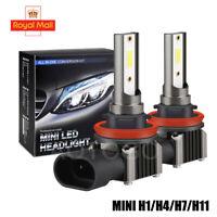 H1 H4 H11 H7 LED Headlight Car Bulbs Kit 48000LM Canbus Error Free 6000K White