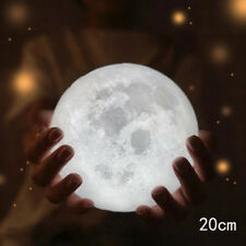 AU Dimmable 3d Magical Moon Lamp USB LED Night Light Moonlight Gift Touch Sensor 8cm