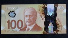 CANADA $100 Dollars 2011 2016 P110 Wilkins/Poloz UNC Polymer Banknote