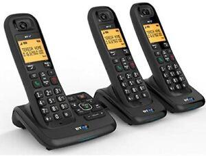 BT XD56 TRIO Cordless Phones with Answering Machine & Call Blocker - REF