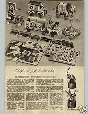 1948 PAPER AD Finger Push Puppet Donkey Elephant Krazy Ikes Ball Socket Halsam