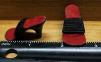 """Vintage REPLACEMENT DOLL SHOES High Heels GOOD ELASTIC - fits SOME 11-13"""" dolls"""