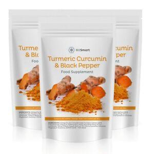 Turmeric 1500mg Tumeric Curcumin & BLACK PEPPER x 60 Antioxidant Tablets / Pills
