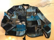 Renaissance Jacket Black Blue Design Size Xl