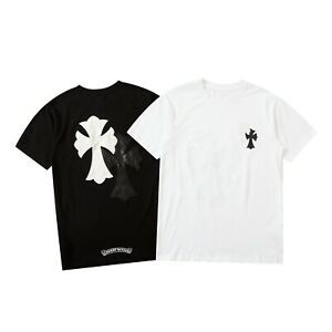 New Italy Pop Style Cross Print Tee Short Sleeve B&W Men's T-Shirts CH1942 M-2XL